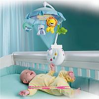 Карусель мобиль с проектором на кроватку Умный малыш Joy Toy 7180