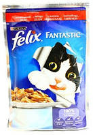 Корм для котов Felix  Purina (Пурина) с говядиной в желе 100г