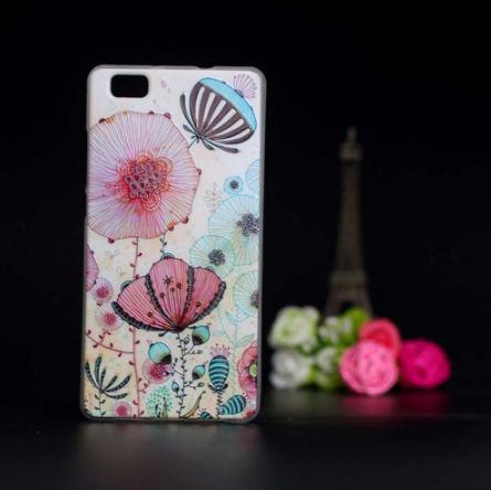 Оригинальный чехол панель накладка для Huawei P8 Lite с картинкой Маки