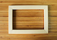 Деревянная рамка 15x15 см (липа плоский 18 мм), фото 1
