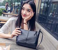 Надежная женская сумка. Сумка с PU кожи. Классический дизайн., фото 1