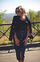 Женский стильный пиджак BALMAN 8316 / темно-синий