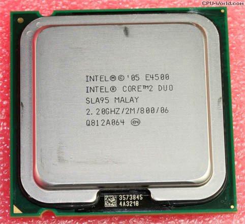 ПРОЦЕССОР 2 ядра s775 INTEL Core2DUO E4500 ( 2 ядра  по 2.2 Ghz )