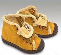 Ботинки-кеды детские на меху, Испания