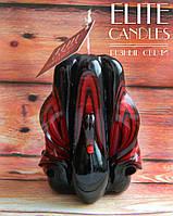Свеча Черный лебедь, ручная работа, мастерская резьба, классный подарок или сувенир, 9 см высотой