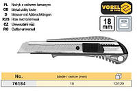 нож пистолетный Польша профи выдвижное лезвие 18 мм металл VOREL-76184