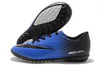 Сороконожки детские Nike Mercurial Walked сине-черные (найк меркуриал)