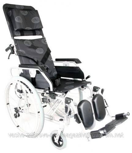 Многофункциональная алюминиевая инвалидная коляска OSD MILLENIUM Modern Recliner (REC - хром) - Интернет-магазин медтехники и товаров для здоровья в Киеве