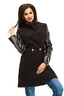 """Пальто №6 """"Кожа рукав"""", фото 1"""