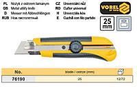 нож пистолетный Польша профи выдвижное лезвие 25 мм VOREL-76190