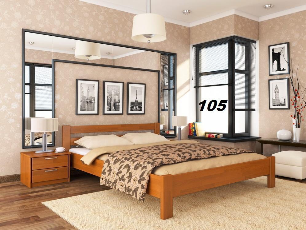 Кровать Рената двуспальная Бук Щит 105 (Эстелла-ТМ)