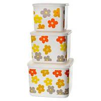 Контейнеры для хранения продуктов Цветы