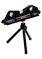 Уровень лазерный, 170 мм, 150 мм штатив, 3 глазка MTX 350209