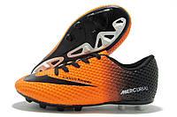 Копы детские Nike Mercurial Walked оранжево-черные  (найк меркуриал)