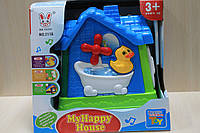 Домик логика сортер, детские развивающие игрушки, коробка 24-22-19 см