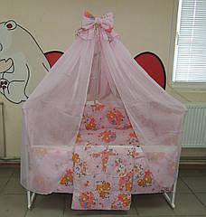 Детская кроватка с ящиком Наталка.Набор для сна. 25 предметов!Матрас +постельный комплект