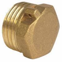 Заглушка латунь діаметр 25 зовнішня різьба