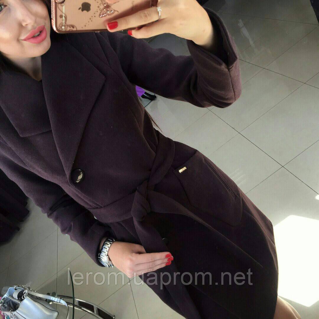 Пальто демісезонне шоколадного кольору