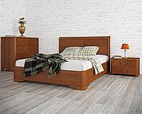 """Кровать  из массива с подъемным механизмом """"Милена с интарсией"""""""