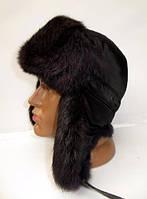 Мужская шапка ушанка из меха кролика