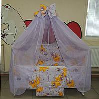 Готовый Набор  для сна новорожденного! Кроватка с маятником + матрасик + набор постельного + ПО