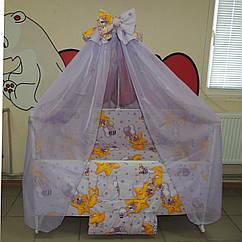 Детская кроватка с маятником Наталка,Набор  для сна! Матрасик + набор постельного + ПО