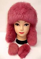 Зимняя женская меховая шапка ушанка