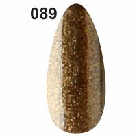 Гель-лак для ногтей Christian №089 (золотисто-ореховый с мерцанием)