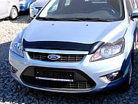 """Дефлектор капота Ford Focus III 2008 и выше """"SIM"""" темный"""