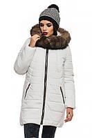 Зимняя куртка с натуральной опушкой.