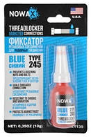 Герметик резьбовых соединений NOWAX THREADLOCKER BLUE, цвет:синий, 10мл., NX21139