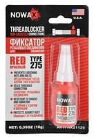 Герметик резьбовых соединений NOWAX THREADLOCKER RED NX21129, цвет:красный, 10мл.