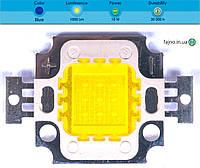 Светодиодная матрица прожектора синяя (10 Вт)