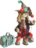 """Текстильная каркасная кукла """"Джокер"""""""