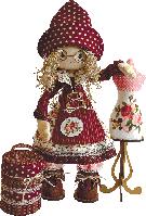 "Текстильная каркасная кукла ""Модистка"""