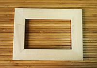 Деревянная рамка 20x20 см (липа плоский 34 мм), фото 1