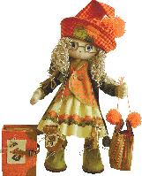"""Текстильная каркасная кукла """"Осень"""""""