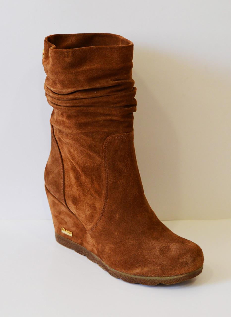 Женские рыжие ботинки Guero 856