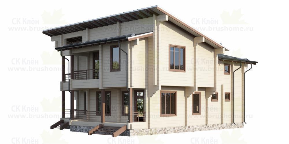 Дом из клеенного бруса площадью 270 м2, фото 1