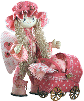 "Текстильная каркасная кукла ""Ангелок"""