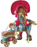 """Текстильная каркасная кукла """"Финская девочка"""""""