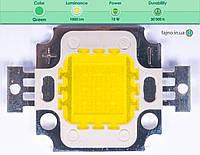 Светодиодная матрица прожектора зеленая (10 Вт)