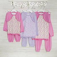.Пижамы на девочку 1-3-5лет, 2214лас трикотаж-хлопок-рибана, в наличии 92,104,116  Рост