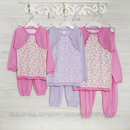 Пижама-девочке 1-3-5лет, 1113GERDA трикотаж-хлопок-рибана, в наличии 92,104,116  Рост, фото 2