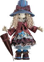 """Текстильная каркасная кукла """"Мэри"""""""