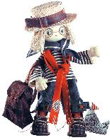 """Текстильная каркасная кукла """"Том"""""""