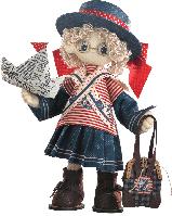 """Текстильная каркасная кукла """"Бэкки"""""""