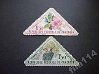 2 марки Камерун цветы кактус