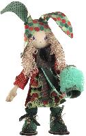 """Текстильная каркасная кукла """"Зайчиха мама"""""""