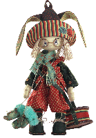 "Текстильная каркасная кукла ""Зайчонок"""